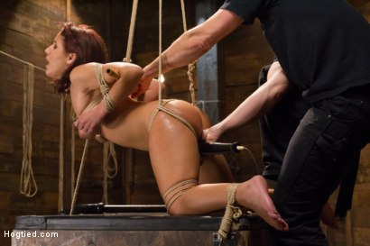 Photo number 14 from Awesome Ass Aguilera Get Rough Treatment on HogTied shot for Hogtied on Kink.com. Featuring Liv Aguilera in hardcore BDSM & Fetish porn.