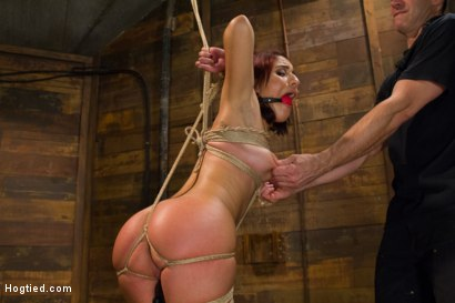 Photo number 5 from Awesome Ass Aguilera Get Rough Treatment on HogTied shot for Hogtied on Kink.com. Featuring Liv Aguilera in hardcore BDSM & Fetish porn.