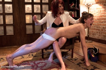 Photo number 4 from 19 year old male gigolo prostate milked for the very first time by Maitresse Madeline! shot for Divine Bitches on Kink.com. Featuring Maitresse Madeline Marlowe and Garett Nova in hardcore BDSM & Fetish porn.