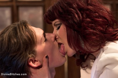 Photo number 3 from 19 year old male gigolo prostate milked for the very first time by Maitresse Madeline! shot for Divine Bitches on Kink.com. Featuring Maitresse Madeline Marlowe  and Garett Nova in hardcore BDSM & Fetish porn.