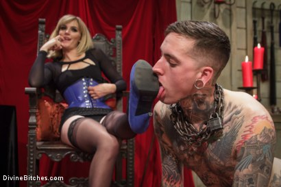 Photo number 3 from Social media stalker punished & milked of his cum by Miss Mona Wales! shot for Divine Bitches on Kink.com. Featuring Ruckus and Mona Wales in hardcore BDSM & Fetish porn.