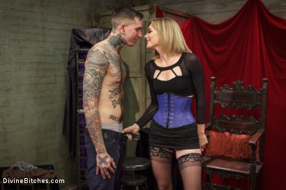Photo number 1 from Social media stalker punished & milked of his cum by Miss Mona Wales! shot for Divine Bitches on Kink.com. Featuring Ruckus and Mona Wales in hardcore BDSM & Fetish porn.