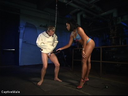 Photo number 2 from Into The Fire shot for Captive Male on Kink.com. Featuring Billy and Sydnee Capri in hardcore BDSM & Fetish porn.