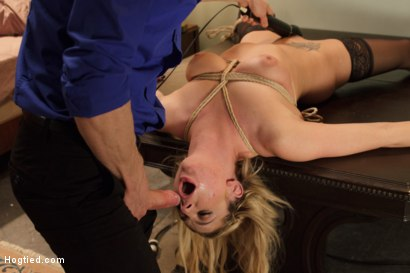 Photo number 8 from Fetish Fuck Maid Dahlia Sky - Formerly Bailey Blue - Tied, Face Fucked shot for Hogtied on Kink.com. Featuring Dahlia Sky and Owen Gray in hardcore BDSM & Fetish porn.