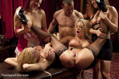 Photo number 5 from Sloppy Ass To Mouth Anal Sluts shot for The Upper Floor on Kink.com. Featuring Mr. Pete, Courtney Taylor and Dee Williams in hardcore BDSM & Fetish porn.