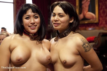 Photo number 15 from Pussy Party Brunch shot for The Upper Floor on Kink.com. Featuring Mia Li, Milcah Halili and Maestro in hardcore BDSM & Fetish porn.