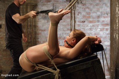 Photo number 12 from Double Penetration Anal Whore Gets The Squirting Shocker! shot for Hogtied on Kink.com. Featuring Roxy Raye in hardcore BDSM & Fetish porn.