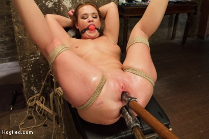 Photo number 11 from Double Penetration Anal Whore Gets The Squirting Shocker! shot for Hogtied on Kink.com. Featuring Roxy Raye in hardcore BDSM & Fetish porn.
