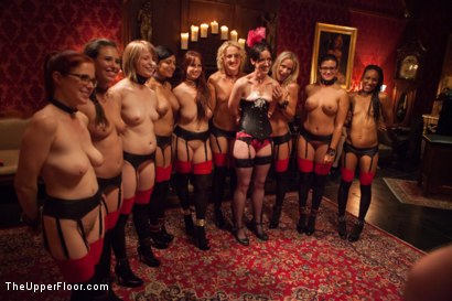 Photo number 20 from Masquerade Orgy with Nine Slaves,100 Horny Guests, Part Three shot for The Upper Floor on Kink.com. Featuring Mickey Mod, Bella Rossi, Casey Calvert , Owen Gray, Alani Pi, Penny Barber, Dylan Ryan, Maestro, Beretta James, Nikki Darling, Simone Sonay and Penny Pax in hardcore BDSM & Fetish porn.