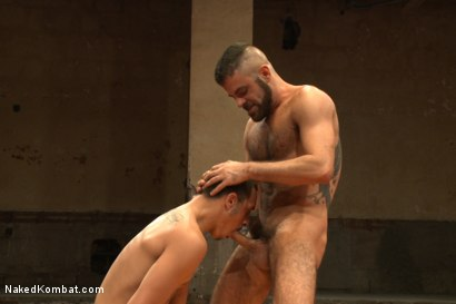 "Photo number 8 from Rico ""The Rocket-Launcher"" Romero vs Marcus ""The Iceman"" Isaacs shot for Naked Kombat on Kink.com. Featuring Rico Romero and Marcus Isaacs in hardcore BDSM & Fetish porn."