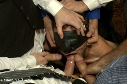 Photo number 14 from Thankful For Cock shot for Bound in Public on Kink.com. Featuring Brandon Moore, Joey Rico, Hayden Richards and Jessie Colter in hardcore BDSM & Fetish porn.