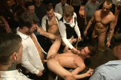 Photo number 5 from Thankful For Cock shot for Bound in Public on Kink.com. Featuring Brandon Moore, Joey Rico, Hayden Richards and Jessie Colter in hardcore BDSM & Fetish porn.