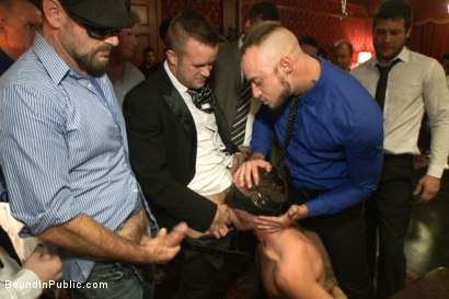 Photo number 1 from Thankful For Cock shot for Bound in Public on Kink.com. Featuring Brandon Moore, Joey Rico, Hayden Richards and Jessie Colter in hardcore BDSM & Fetish porn.