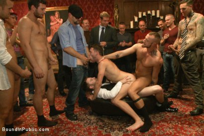 Photo number 10 from Thankful For Cock shot for Bound in Public on Kink.com. Featuring Brandon Moore, Joey Rico, Hayden Richards and Jessie Colter in hardcore BDSM & Fetish porn.
