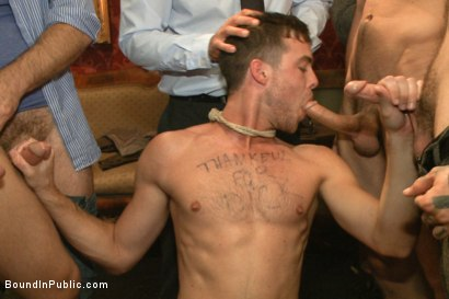 Photo number 11 from Thankful For Cock shot for Bound in Public on Kink.com. Featuring Brandon Moore, Joey Rico, Hayden Richards and Jessie Colter in hardcore BDSM & Fetish porn.