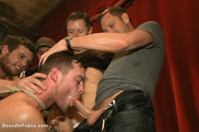 Photo number 6 from Thankful For Cock shot for Bound in Public on Kink.com. Featuring Brandon Moore, Joey Rico, Hayden Richards and Jessie Colter in hardcore BDSM & Fetish porn.