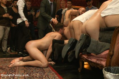 Photo number 8 from Thankful For Cock shot for Bound in Public on Kink.com. Featuring Brandon Moore, Joey Rico, Hayden Richards and Jessie Colter in hardcore BDSM & Fetish porn.