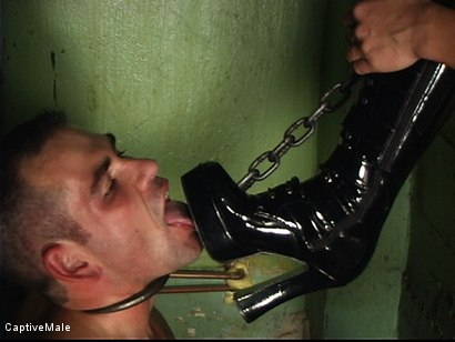 Photo number 3 from Satisfying Her Sadistic Mind shot for Captive Male on Kink.com. Featuring Sandra Romain and Dak Ramsey in hardcore BDSM & Fetish porn.