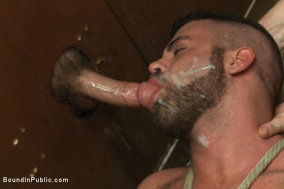 Photo number 12 from Pissed off janitor fucked in bondage by horny bathroom cruisers  shot for Bound in Public on Kink.com. Featuring Eli Hunter, Leo Forte, Marcus Isaacs and Big Red in hardcore BDSM & Fetish porn.