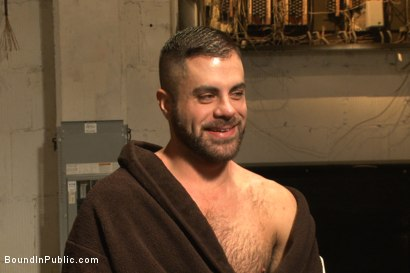 Photo number 15 from Horny cruisers cover a bathroom slut with cum and piss shot for Bound in Public on Kink.com. Featuring Eli Hunter, Leo Forte, Marcus Isaacs and Big Red in hardcore BDSM & Fetish porn.