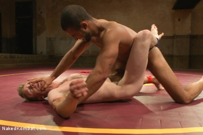 """Photo number 4 from Damian """"The Decimator"""" Taylor vs Liam """"Hardball"""" Harkmoore shot for Naked Kombat on Kink.com. Featuring Damian Taylor and Liam Harkmoore in hardcore BDSM & Fetish porn."""