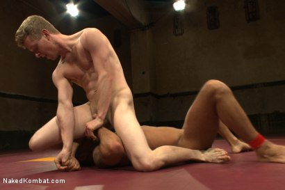 """Photo number 5 from Damian """"The Decimator"""" Taylor vs Liam """"Hardball"""" Harkmoore shot for Naked Kombat on Kink.com. Featuring Damian Taylor and Liam Harkmoore in hardcore BDSM & Fetish porn."""