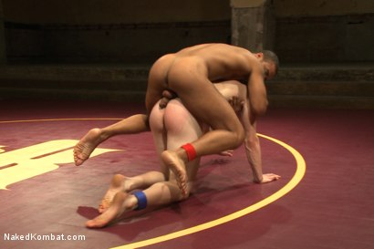 """Photo number 10 from Damian """"The Decimator"""" Taylor vs Liam """"Hardball"""" Harkmoore shot for Naked Kombat on Kink.com. Featuring Damian Taylor and Liam Harkmoore in hardcore BDSM & Fetish porn."""