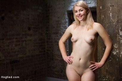 Photo number 15 from Suspended Anal Invasion for Newbie Blonde Squirting Slut shot for Hogtied on Kink.com. Featuring Ella Nova in hardcore BDSM & Fetish porn.