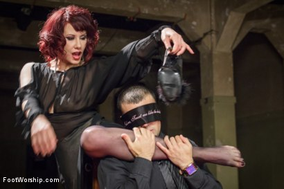 Photo number 5 from Hypnotizing Foot Worship with Maitresse Madeline shot for Foot Worship on Kink.com. Featuring Jake Jammer and Maitresse Madeline Marlowe in hardcore BDSM & Fetish porn.