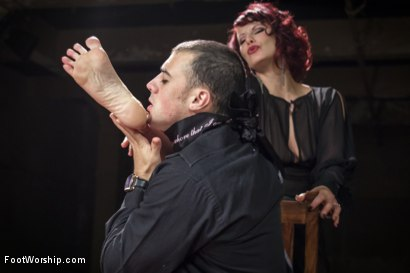Photo number 12 from Hypnotizing Foot Worship with Maitresse Madeline shot for Foot Worship on Kink.com. Featuring Jake Jammer and Maitresse Madeline Marlowe in hardcore BDSM & Fetish porn.