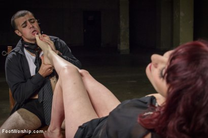 Photo number 6 from Hypnotizing Foot Worship with Maitresse Madeline shot for Foot Worship on Kink.com. Featuring Jake Jammer and Maitresse Madeline Marlowe in hardcore BDSM & Fetish porn.