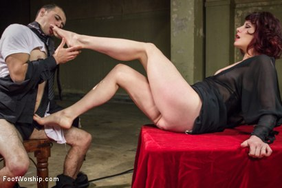 Photo number 13 from Hypnotizing Foot Worship with Maitresse Madeline shot for Foot Worship on Kink.com. Featuring Jake Jammer and Maitresse Madeline Marlowe in hardcore BDSM & Fetish porn.