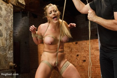 Photo number 2 from Request Fulfilled: Big Tit MILF Bondage Predicaments shot for Hogtied on Kink.com. Featuring Holly Heart in hardcore BDSM & Fetish porn.
