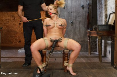 Photo number 6 from Request Fulfilled: Big Tit MILF Bondage Predicaments shot for Hogtied on Kink.com. Featuring Holly Heart in hardcore BDSM & Fetish porn.