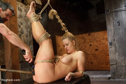 Photo number 12 from Request Fulfilled: Big Tit MILF Bondage Predicaments shot for Hogtied on Kink.com. Featuring Holly Heart in hardcore BDSM & Fetish porn.