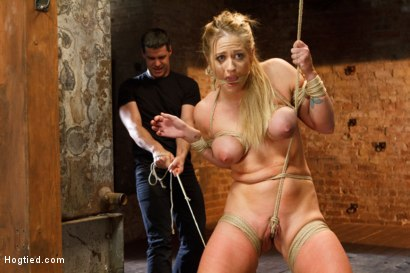 Photo number 4 from Request Fulfilled: Big Tit MILF Bondage Predicaments shot for Hogtied on Kink.com. Featuring Holly Heart in hardcore BDSM & Fetish porn.
