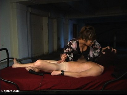 Photo number 1 from The Intruder shot for Captive Male on Kink.com. Featuring DragonLily and Rick Hunt in hardcore BDSM & Fetish porn.