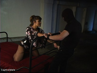 Photo number 2 from The Intruder shot for Captive Male on Kink.com. Featuring DragonLily and Rick Hunt in hardcore BDSM & Fetish porn.