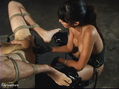 Photo number 7 from First he Must Earn Her Pussy shot for Captive Male on Kink.com. Featuring shy love and Lefty in hardcore BDSM & Fetish porn.