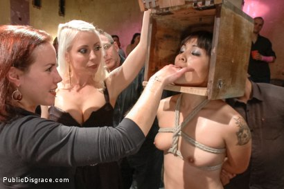 Photo number 13 from First boy/girl scene ever! shot for Public Disgrace on Kink.com. Featuring Astral Dust and Milcah Halili in hardcore BDSM & Fetish porn.