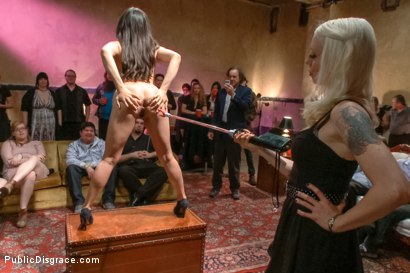 Photo number 2 from First boy/girl scene ever! shot for Public Disgrace on Kink.com. Featuring Astral Dust and Milcah Halili in hardcore BDSM & Fetish porn.