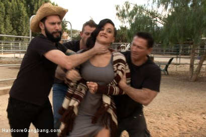 Photo number 2 from Busty Latina Discovers Orgasmic Transcendence of Sexual Submission  shot for Hardcore Gangbang on Kink.com. Featuring John Strong, Bill Bailey, Tommy Pistol and Alby Rydes in hardcore BDSM & Fetish porn.