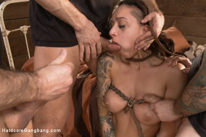 Photo number 7 from Busty Latina Discovers Orgasmic Transcendence of Sexual Submission  shot for Hardcore Gangbang on Kink.com. Featuring John Strong, Bill Bailey, Tommy Pistol and Alby Rydes in hardcore BDSM & Fetish porn.