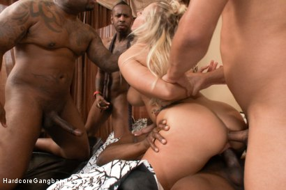 Photo number 8 from Busty MILF Orders Four Big Black Cocks to Fuck While her Husbands Away shot for Hardcore Gangbang on Kink.com. Featuring Prince Yahshua, Angel Allwood, Jon Jon, D Snoop and Rico Strong in hardcore BDSM & Fetish porn.