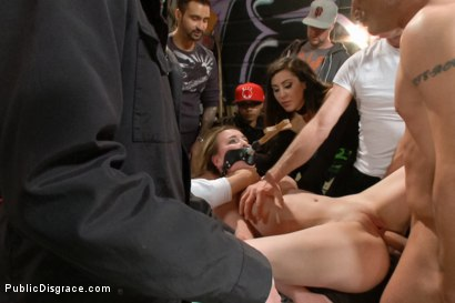 Photo number 7 from 18 year old Preachers daughter Spreads the Word of God, and her Legs  shot for Public Disgrace on Kink.com. Featuring Jessie Parker and Mr. Pete in hardcore BDSM & Fetish porn.