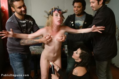 Photo number 11 from 18 year old Preachers daughter Spreads the Word of God, and her Legs  shot for Public Disgrace on Kink.com. Featuring Jessie Parker and Mr. Pete in hardcore BDSM & Fetish porn.