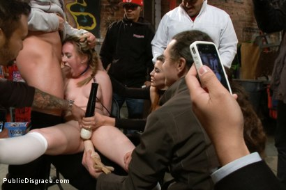 Photo number 4 from 18 year old Preachers daughter Spreads the Word of God, and her Legs  shot for Public Disgrace on Kink.com. Featuring Jessie Parker and Mr. Pete in hardcore BDSM & Fetish porn.