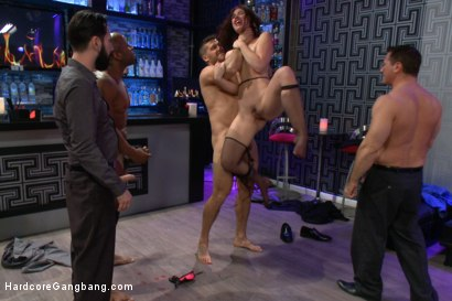 Photo number 6 from Naughty Waitress Takes her Payment in Cock in an Interracial Gangbang! shot for Hardcore Gangbang on Kink.com. Featuring Prince Yahshua, Astral Dust, Ramon Nomar, John Strong, Jodi Taylor and Tommy Pistol in hardcore BDSM & Fetish porn.
