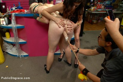 Photo number 12 from Squirting Blond Fuck Puppy is Eager to Please from her Hands and Knees shot for Public Disgrace on Kink.com. Featuring Ella Nova  and Astral Dust in hardcore BDSM & Fetish porn.