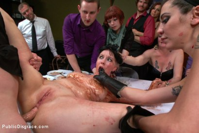 Photo number 12 from Nerine Mechanique served up and fucked at a dinner soiree! shot for Public Disgrace on Kink.com. Featuring Nerine Mechanique and Bill Bailey in hardcore BDSM & Fetish porn.